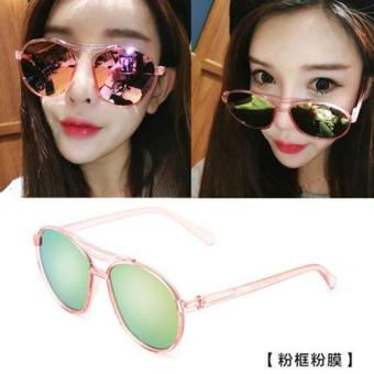Harga Sunglasses Female Star Eyes Round Face Elegant Glasses 2017 New Round Personality Sunglasses Ladies(Not Specified Pink) - Intl
