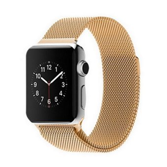 Harga GAKTAI Replacement Milanese Magnetic Loop Stainless Steel Strap Watch Bands For Apple Watch iWatch 42MM - Gold - intl