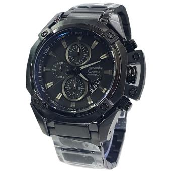... Band Wrist Quartz Wristwatch Black - intl Di Indonesia. Source · Alexandre Christie - Jam Tangan Pria - Staibless Steel - Black - AC 6225 MC Black