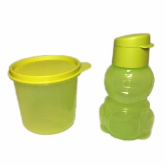 Harga Tupperware High Bowl + Eco kids Hijau Set