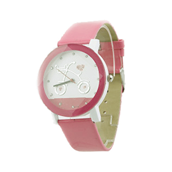 Harga Men's Watch Hand Edition Couple Bike Watch Personality Bicycle Students Watch (Pink)