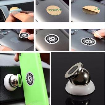 Harga Car Mobile Bracket Magnetic Rotating / Magnetic Phone Holder /Magnet Handphone Mobil