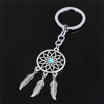 Harga Dreamcatcher Dreamer Womens Accessories Key Ring Feather Tassels Key Chains Silver - intl