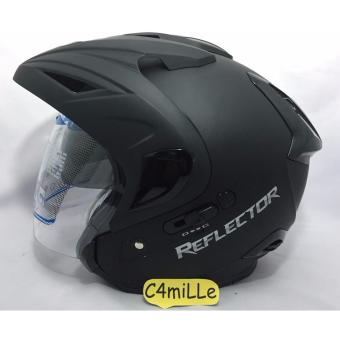 Harga Helm MDS Reflector Double Visor Black Dop Half Face