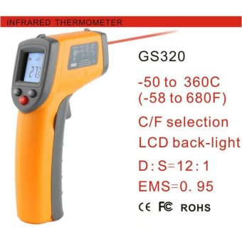 Harga Benetech GS320 Contact Laser Thermometer -50~360 C (-58~680 F Non) Infrared Digital - intl