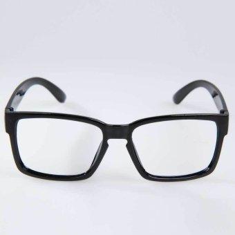Hipster Chic Unisex Kacamata Bingkai Frame Lensa Dekoratif Terang Hitam 5 8ef980847c