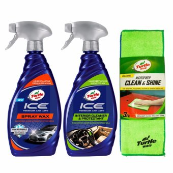 Harga Turtle Wax - Paket Maintanence - Ice Spray Wax + Ice Interior Cleaner & Protectant + Microfiber Clean & Shine