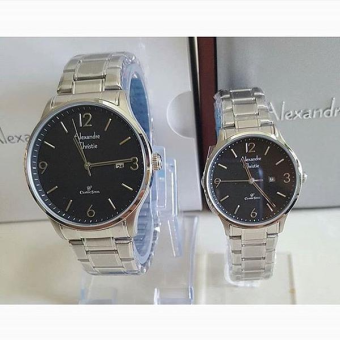 Alexandre Christie - Jam Tangan Couple - Stainless Steel - AC 8450CSB .