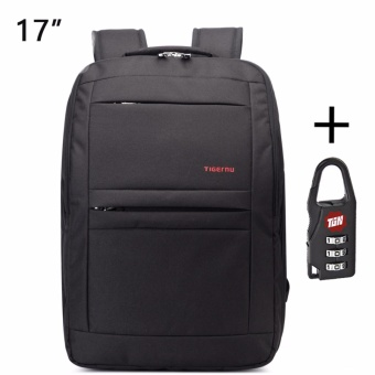 Harga Tigernu Waterproof Anti-theft Four-tooth zipper Shcool College Causal 17 Inches Laptop backpack for 12.1-17 Inches Laptop T-B3152 - intl