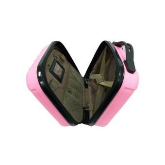 ... Detail Gambar Koper Polo Maple ABS Vertical Stripe Six B11 pink 12 beautycase & 16 Terbaru