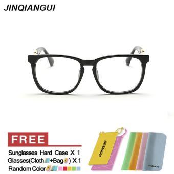 Kacamata Fashion Square BrightBlack bingkai kacamata polos untuk miopia  pria kacamata bingkai kacamata Optik Oculos Femininos 8a83a7a117
