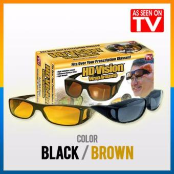 Harga Hd Night Vision Sps - Kacamata Sunglass 1 Box Isi 2 Pcs Kuning Dan Hitam - Multicolor