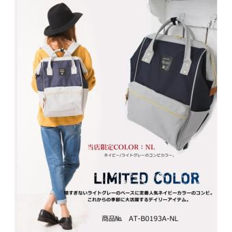 Harga Anello Tas Ransel Backpack Polyester AT-B0193A Large Limited Color - Navy Light Gray