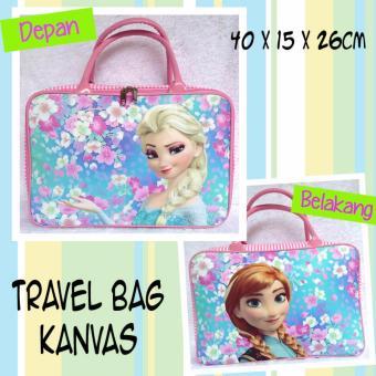 TRAVELBAGMURAH - Travel Bag Kanvas FROZEN FLOWER