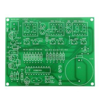 Dibetulkan Kit modul jam elektronik AT89C2051 6 komponen alat digital memimpin 9V-12V - 2