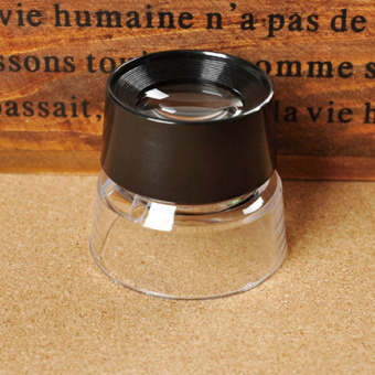 10X Magnifying Glass Magnifiers Microscope for Jeweler Loupe Stamp Antique ...