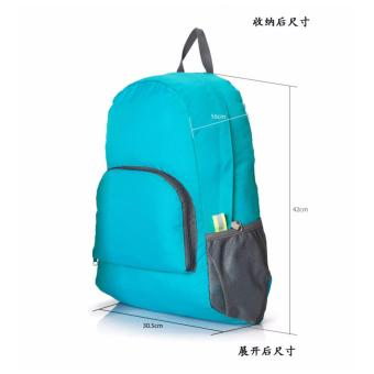Harga TAS RANSEL LIPAT / FOLDABLE BACKPACK - LIGHT BLUE