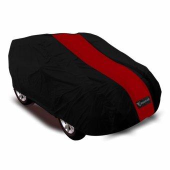 Mantroll Cover Mobil Honda Jazz - Hitam-Strip Merah ...