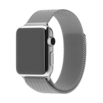 Harga GAKTAI Replacement Milanese Magnetic Loop Stainless Steel Strap Watch Bands For Apple Watch iWatch 42MM - Silver - intl