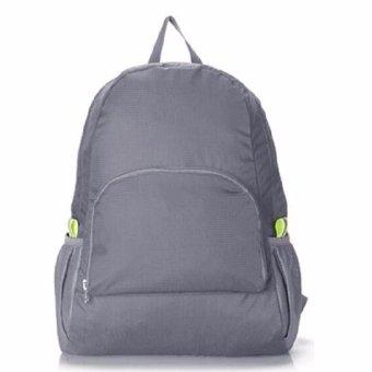 Anabelle Foldable Tas Lipat Punggung / Ransel Travelling Serbaguna SILVER