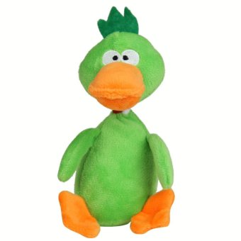 Harga Pet Toys Chew Puppy Dog Squeaky Plush Sound Duck for Small Dogs (Green) - intl