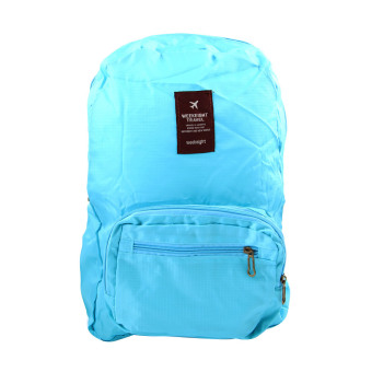 Harga Generic WeekEight Korean Foldable Backpack Bag Biru