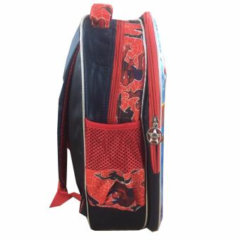 BGC 5 Dimensi Avenger Spiderman Tas Ransel Anak TK IMPORT Lunch Bag ALuminium .