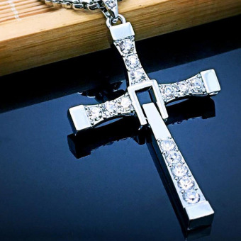 Harga Classic Men's Rosary necklaces & pendants Cross necklace charms Furious Toretto cross women necklace men jewelry