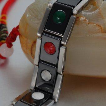 21,5 cm energi kesehatan Magnetic hitam gelang keramik untuk pria -