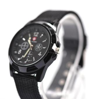 The Armed Forces Men's Leisure Sports Watch- Deep Black - intl
