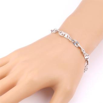Kristal Yang Indah Dapat Disesuaikan Untuk Hadiah Berlapis Mode Perhiasan Wanita Platinum Platinum .