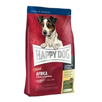 Harga Happy Dog Supreme Mini - Mini Adult Africa with Ostrich & Potato 4 Kg