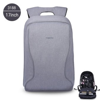 Harga Tigernu 43.18 cm Fashion Casual Business ransel laptop untuk 12-15.6 inci laptop es (abu-abu silver)