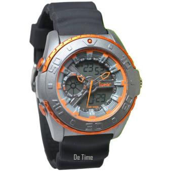 i-Gear IG18-DT Jam Tangan Pria - Strap Rubber - Hitam Orange
