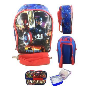 Lunch Bag ALuminium Tahan Panas - Full Motif Spider. BGC Avenger Civil .