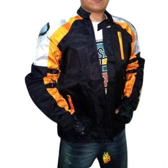 Harga dm Jaket Pemotor/Bikers Full Body Protector (Black Orange)