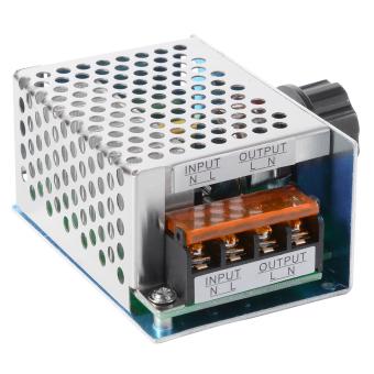 4000 Watt 220 V AC Scr Tegangan Pengatur Lampu Dim Motor Listrik Pengendali .