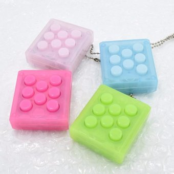 Harga PuchiPuchi Endless Pop Pop Infinite Bubble Wrap Relieve Stress Key Chain - intl