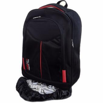 Bag & Stuff Bougger Emboss Laptop Backpack Raincover Hitam Source Bag & Stuff .