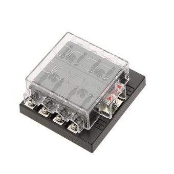 8 Way Circuit 32V DC Blade Fuse Box Block Holder for Auto Car Boat ...