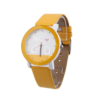 Harga Men's Watch Hand Edition Couple Bike Watch Personality Bicycle Students Watch (Yellow)