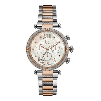 GUESS COLLECTION Gc CABLECHIC Y16002L1 - Jam Tangan Wanita - Stainless - Silver - Rose Gold
