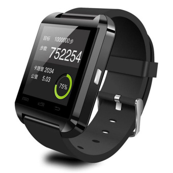 Harga Bluetooth smart watch U8 Wrist Watch for Android Apple Phone Smartphones Black