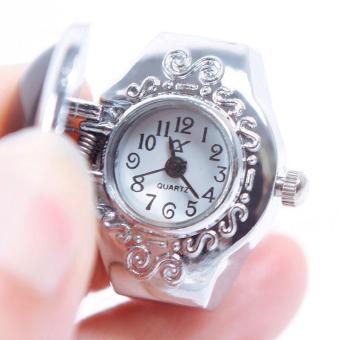 High Quality Store New New CreativeLady Girl Man Steel Gemstone Elastic Quartz Finger Ring Watch