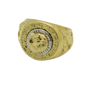 Harga Fang Fang Men's Ring Cool Lion Eagle Star (Gold)