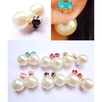 Harga Anneui - EE0056 - Anting Double Pearl Candy Stud