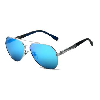Galeri Gambar VEITHDIA pria magnesium aluminium merek Kacamata Hitam  terpolarisasi Biru lensa kacamata matahari mengemudi penangkapan a7c988c2a9