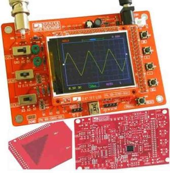Harga DSO138 Digital Oscilloscope DIY Kit DIY Parts for Oscilloscope Making Electronic diagnostic-tool Learning osciloscopio Set 1Msps - intl