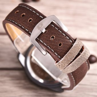 ... Leather Sa Source · Swiss Army Jam Tangan Pria Body Black Brown Dial Nylon Strap SA