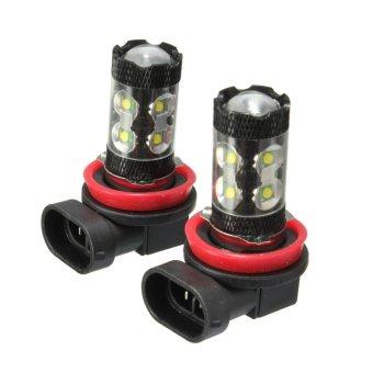 120-SMD Fog Vehicle Car Headlight DRL LED Lamp Bulbs Ultra.